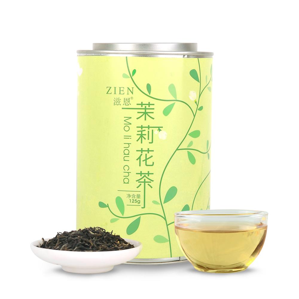 【滋恩】特级茉莉花茶 长圆罐装 125g_0