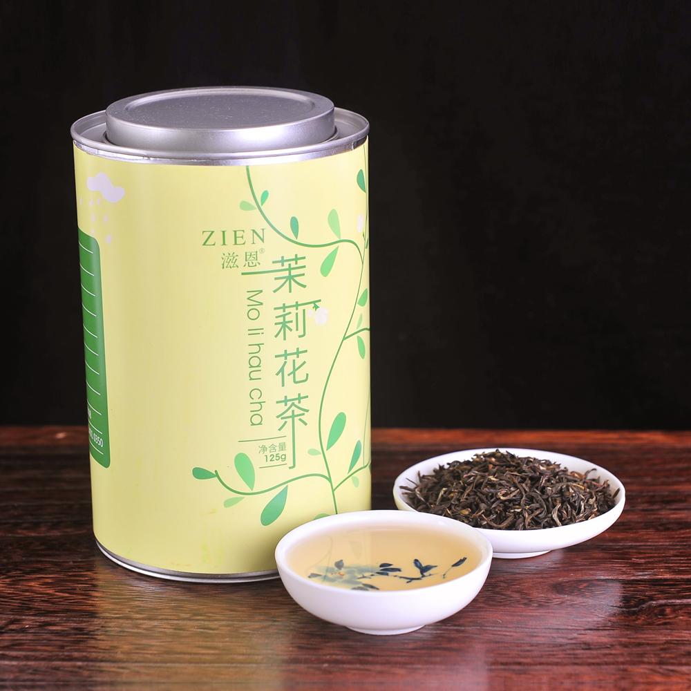 【滋恩】特级茉莉花茶 长圆罐装 125g_1