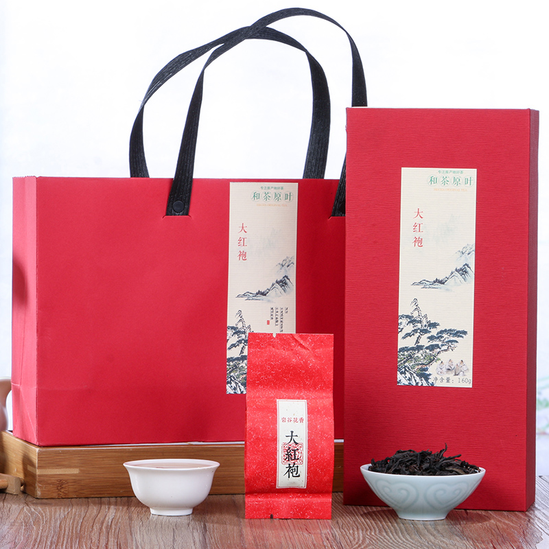 【和茶原叶】雅致武夷大红袍礼盒装160g_0