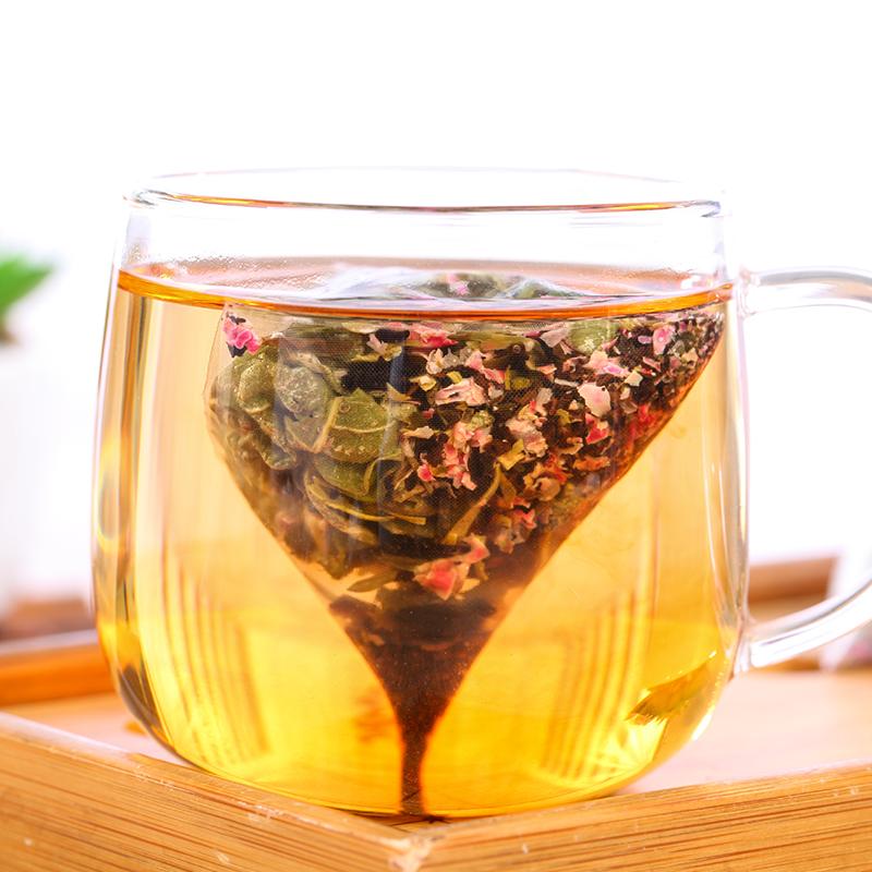 【和茶原叶】玫瑰荷叶茶盒装64g_2
