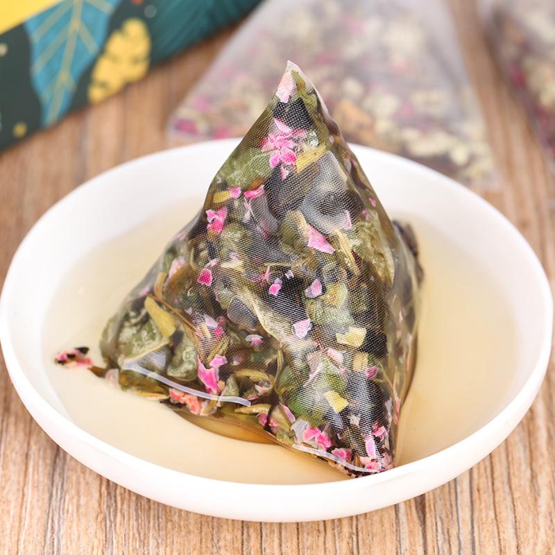 【和茶原叶】玫瑰荷叶茶盒装64g_4
