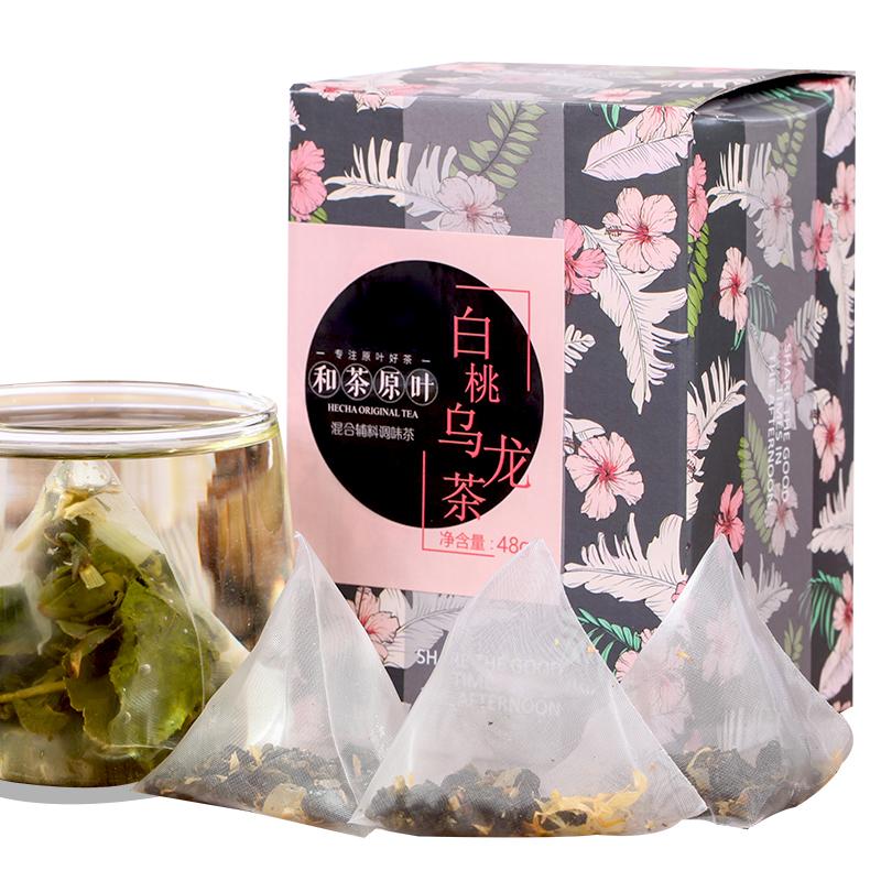 【和茶原叶】白桃乌龙茶盒装48g_0