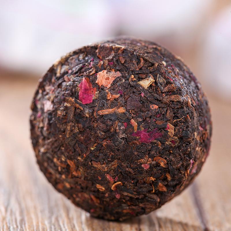 【和茶原叶】云南玫瑰小沱熟茶普洱风情布袋150g_2