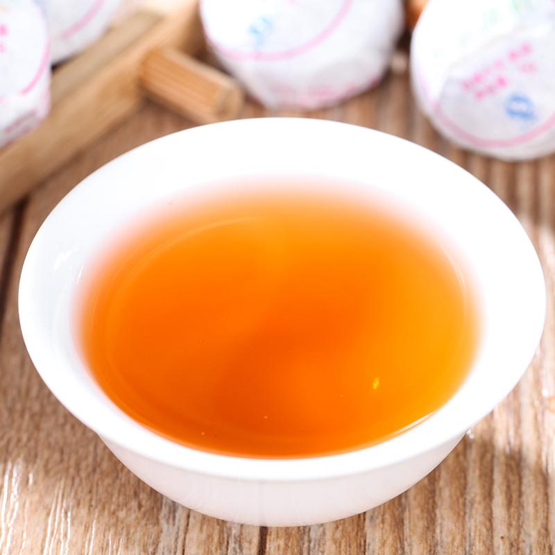 【和茶原叶】云南玫瑰小沱熟茶普洱风情布袋150g_3