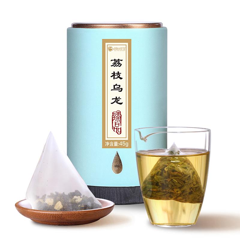 【趣呵茶】臻品·荔枝烏龍罐裝45g_0