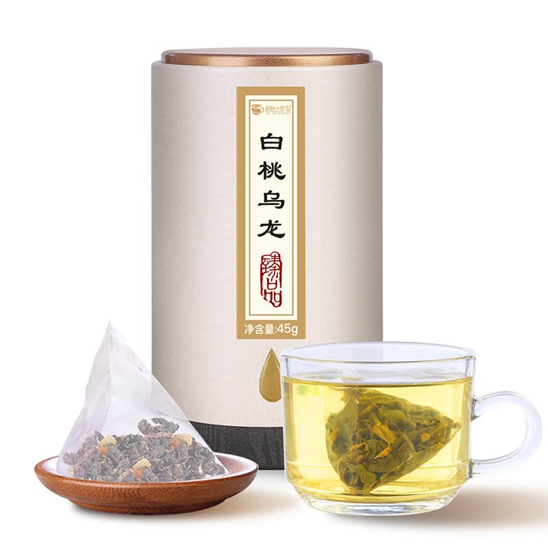 【趣呵茶】臻品·白桃乌龙罐装45g _0