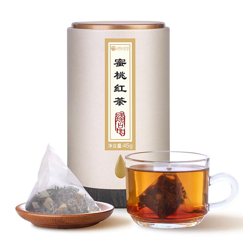 【趣呵茶】臻品·蜜桃紅茶罐裝45g_0