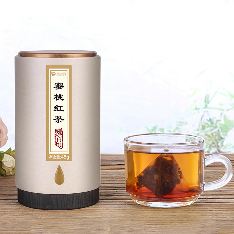【趣呵茶】臻品·蜜桃紅茶罐裝45g_1