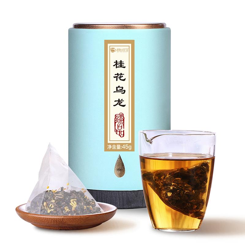 【趣呵茶】臻品·桂花乌龙罐装45g _0