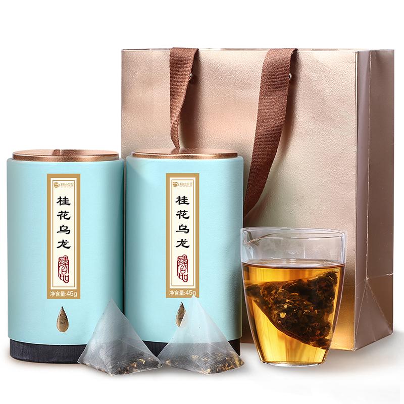 【趣呵茶】臻品·桂花乌龙罐装45g*2 _0