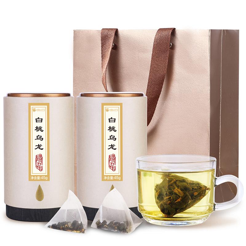 【趣呵茶】臻品·白桃乌龙罐装45g*2 _0