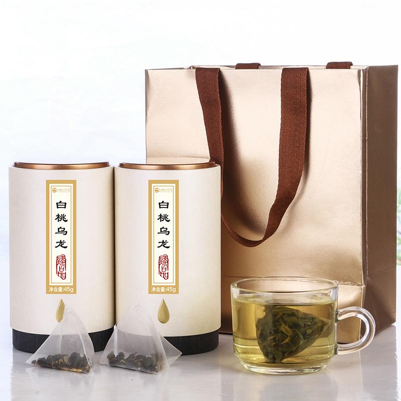 【趣呵茶】臻品·白桃乌龙罐装45g*2 _1