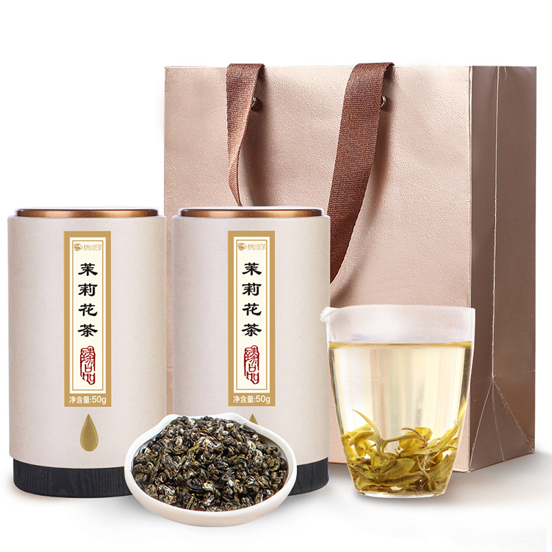 【趣呵茶】臻品·茉莉花茶罐装50g*2 _0