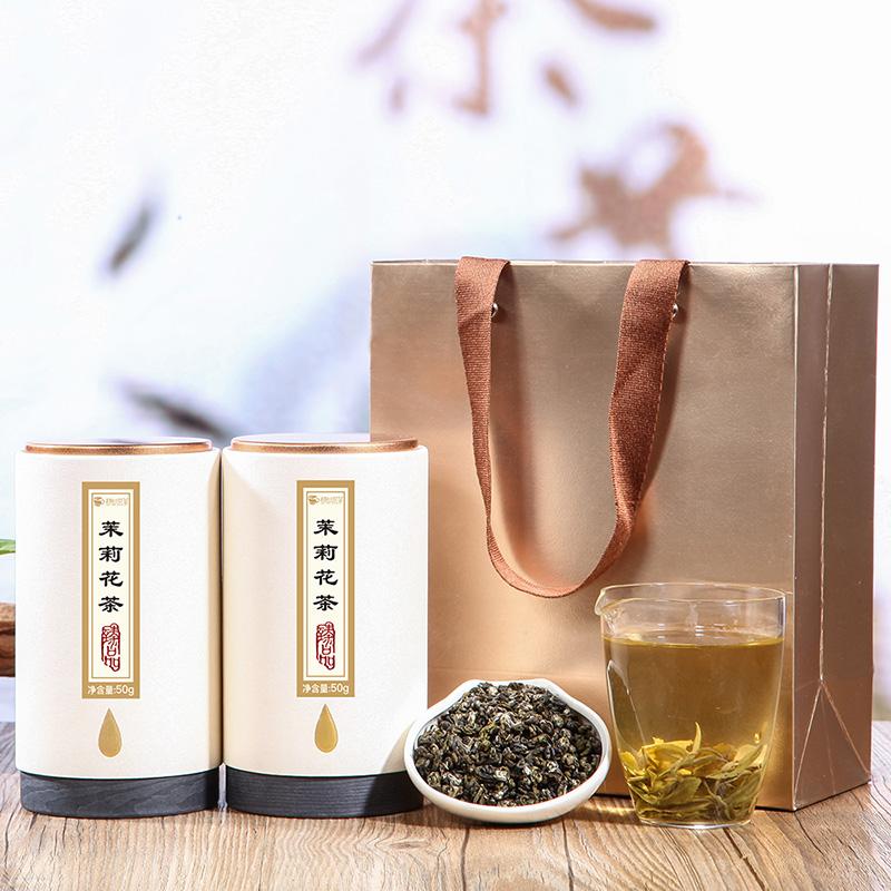 【趣呵茶】臻品·茉莉花茶罐装50g*2 _1