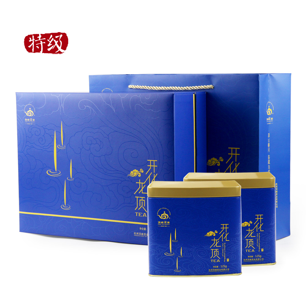 【顶峰】特级明前开化龙顶礼盒250g1_0