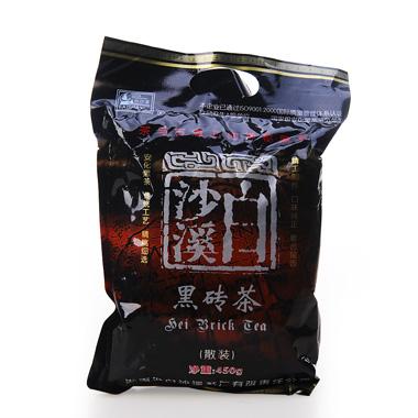 【白沙溪】2011年直泡黑砖茶散装450g1_0