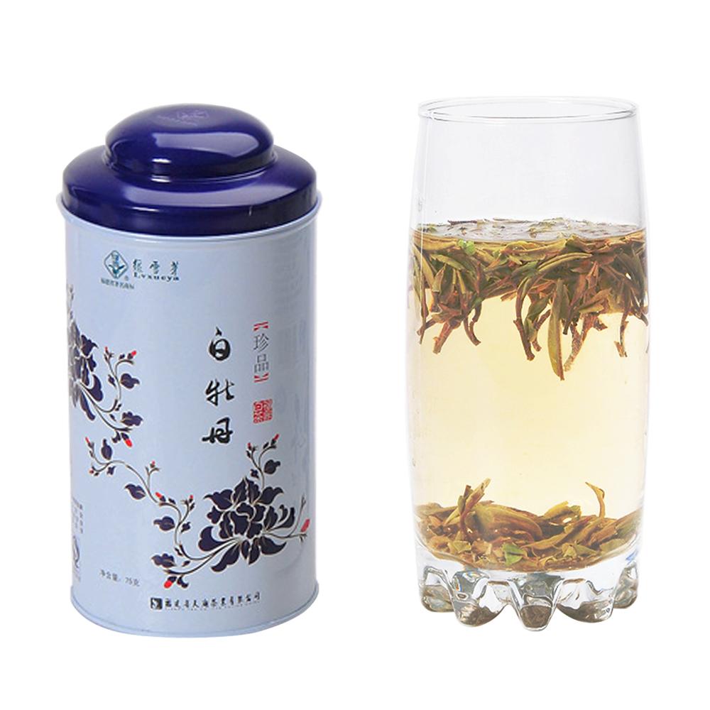 【绿雪芽】极品白牡丹有机白茶青花罐75g