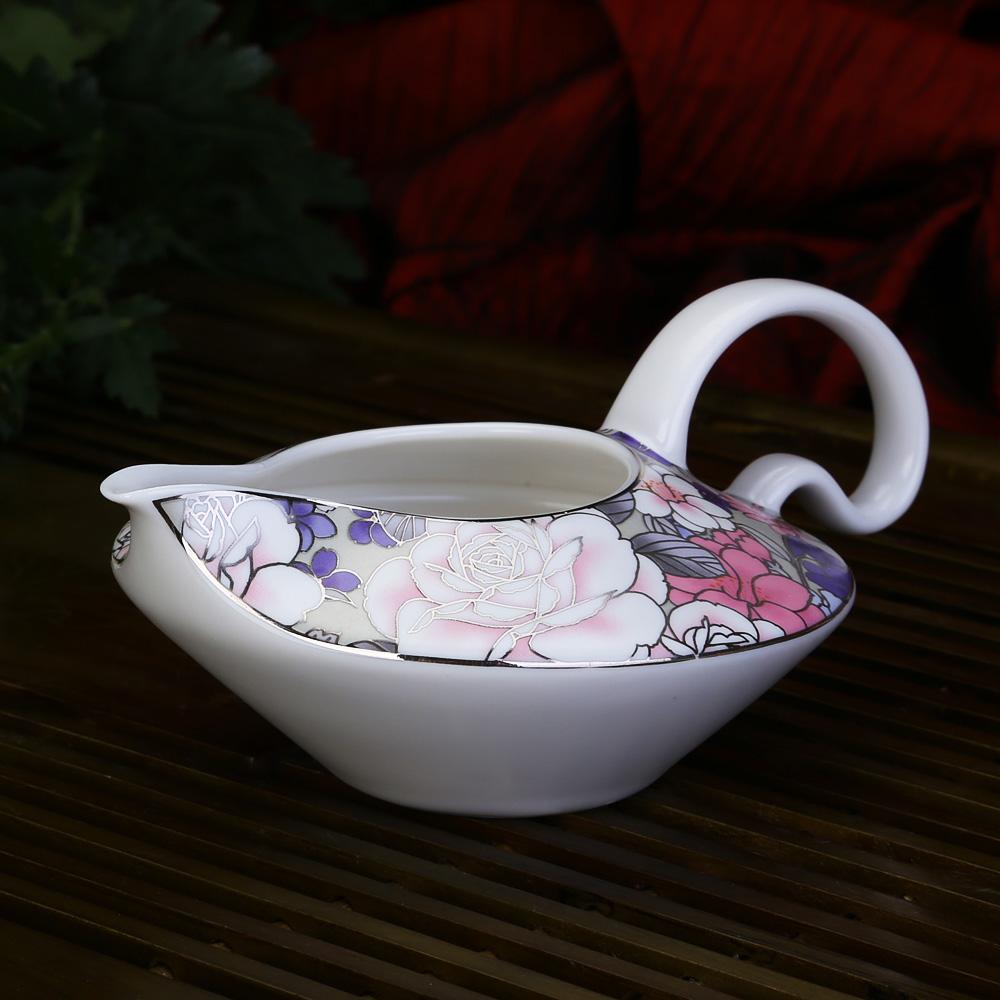 【成艺】正品 德化陶瓷茶具 白牡丹雅致壶10件套 功夫茶具 礼盒5_4