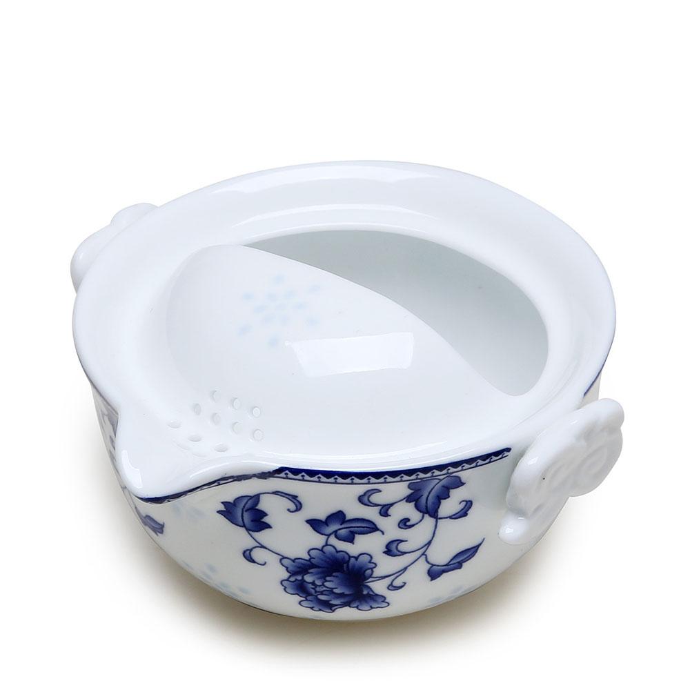 【德化陶瓷】随身自带 高白青花快客杯之精致自用茶具3_1