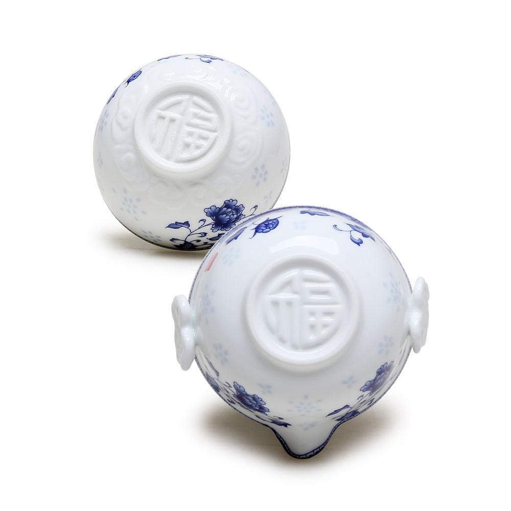 【德化陶瓷】随身自带 高白青花快客杯之精致自用茶具4_2