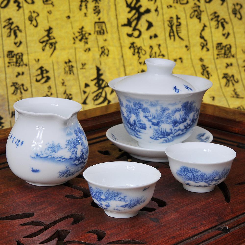 【福萬利】青花雪景山水茶具8件套5_4