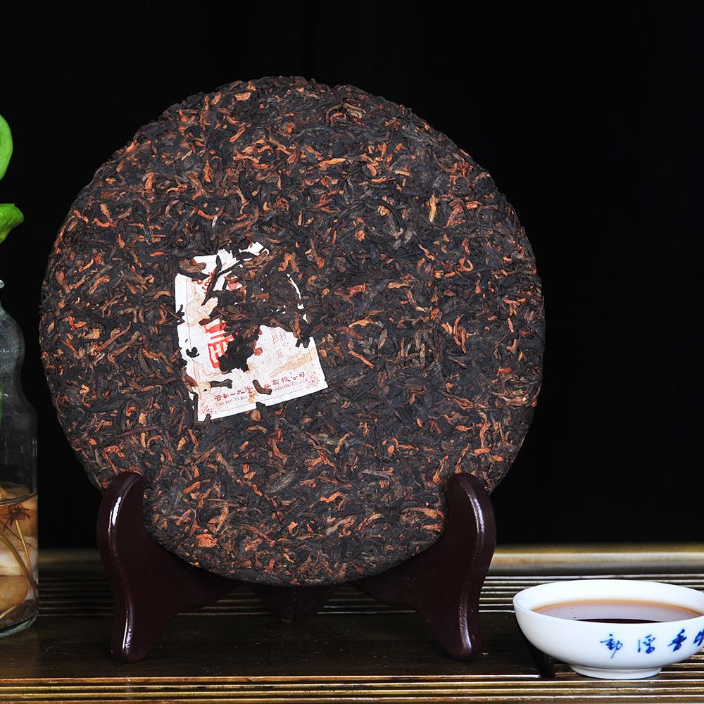 【一品堂】一品普洱熟饼357g(2012年绿标)2_1