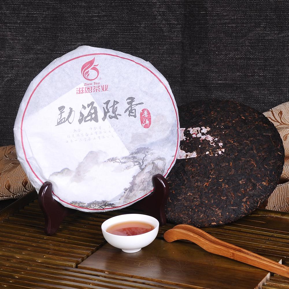 【滋恩】勐海陈香普洱茶饼熟茶357g*23_2