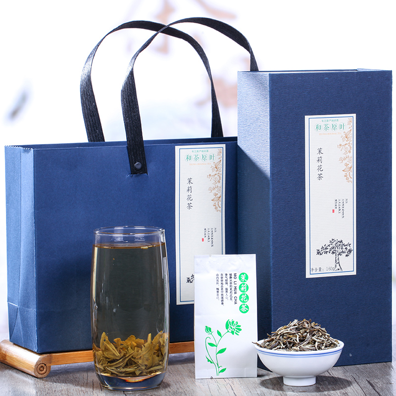 【和茶原叶】雅致福建茉莉花茶礼盒装160g1_0
