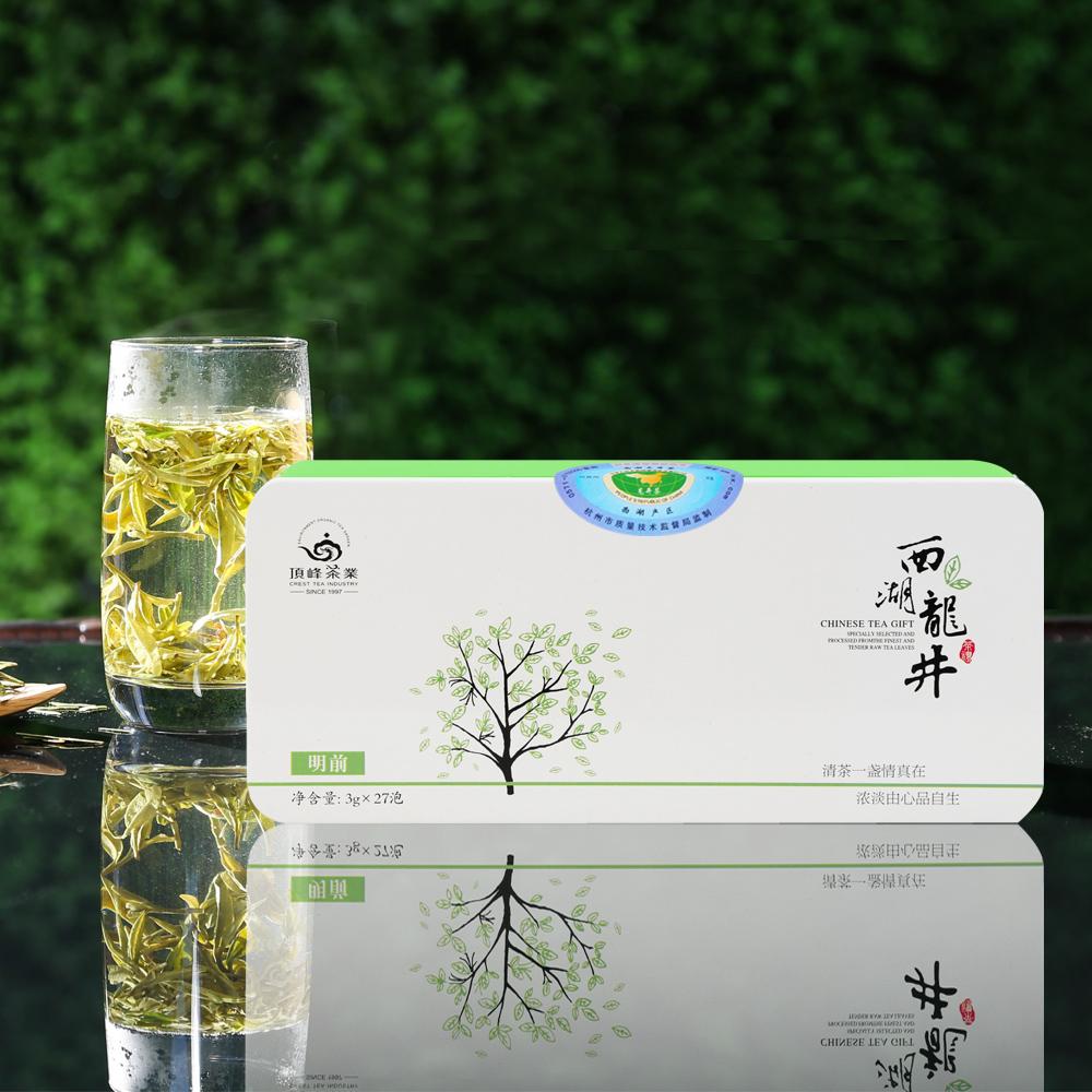 【顶峰】2016新茶 明前特级-坐忘-西湖龙井铁盒装80g 1_0
