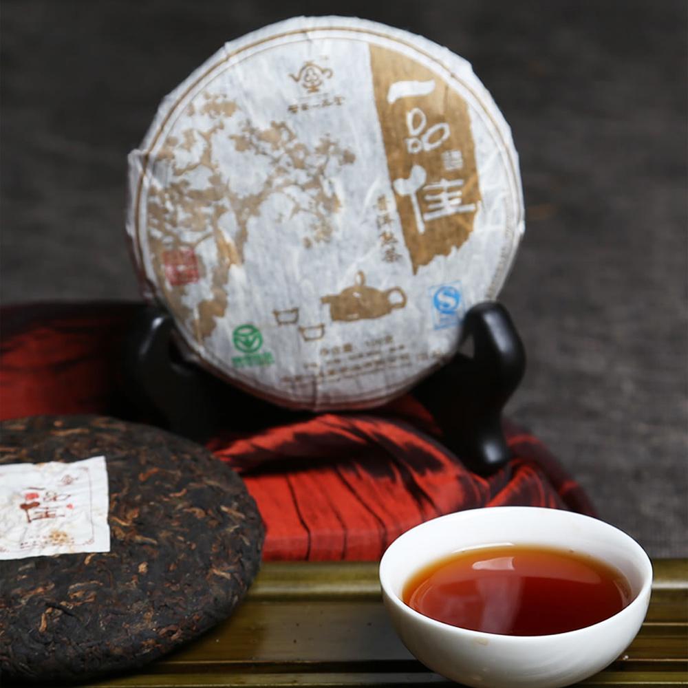 【一品堂】一品佳茶画100g普洱熟茶(07年)1_0