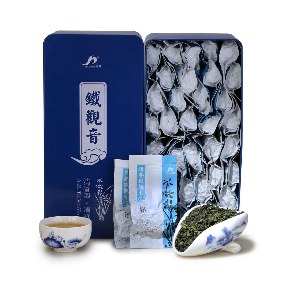 【远荣】特级清雅清香铁观音礼罐装250g--兰1_0
