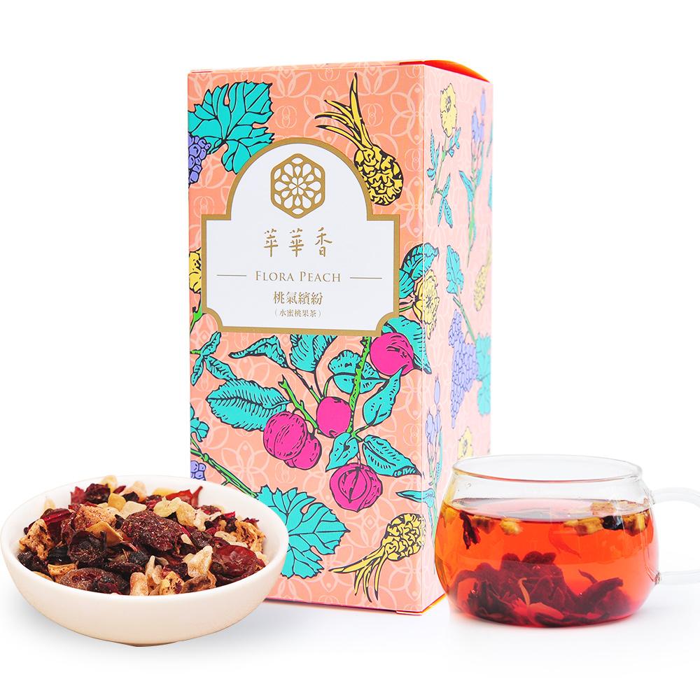 【萃華香】桃氣繽紛(Flora Peach)水蜜桃果茶盒装70g1_0