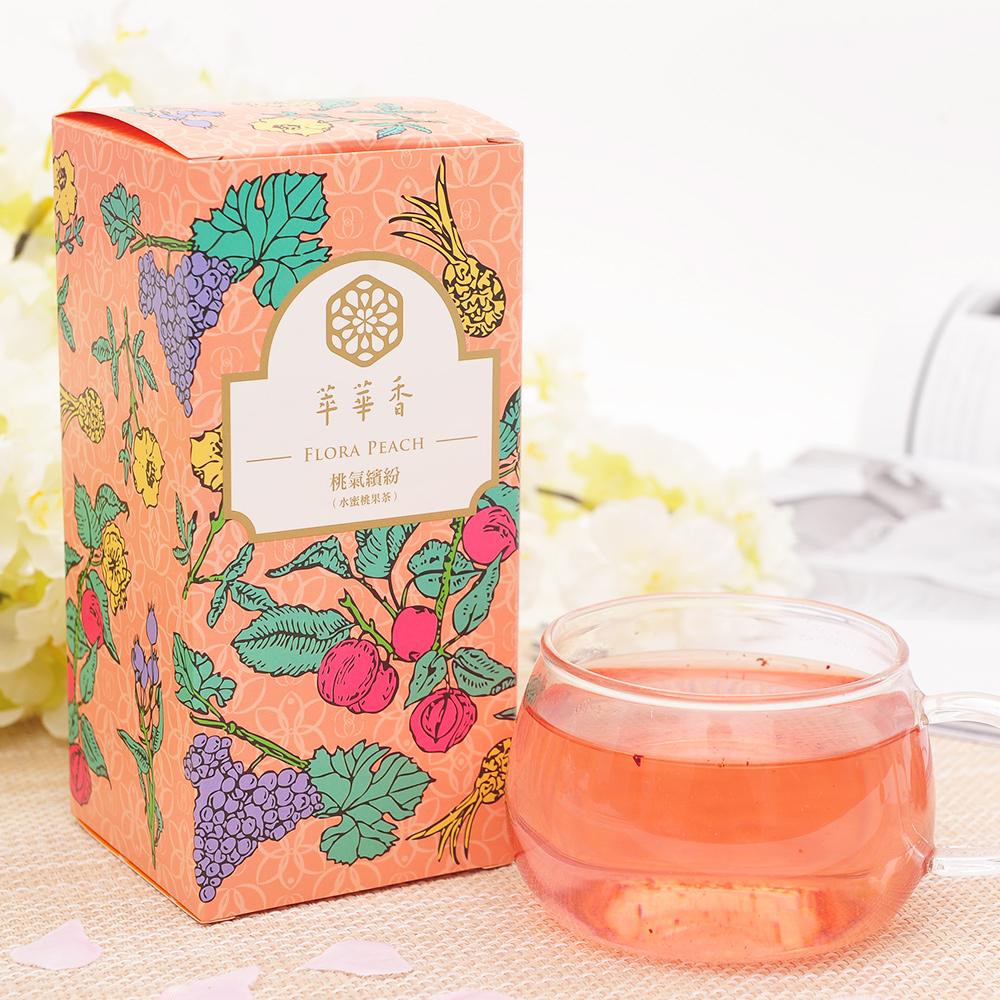 【萃華香】桃氣繽紛(Flora Peach)水蜜桃果茶盒装70g2_1