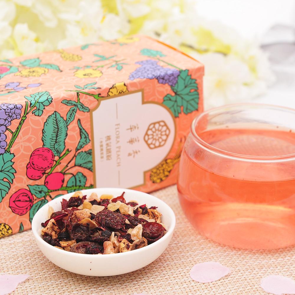 【萃華香】桃氣繽紛(Flora Peach)水蜜桃果茶盒装70g4_3