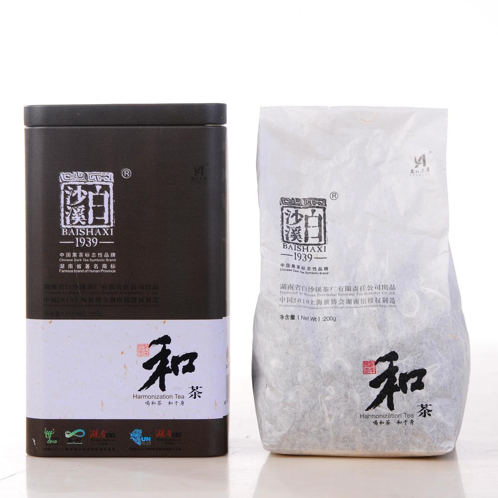 【白沙溪】2011年和茶铁盒200g1_1