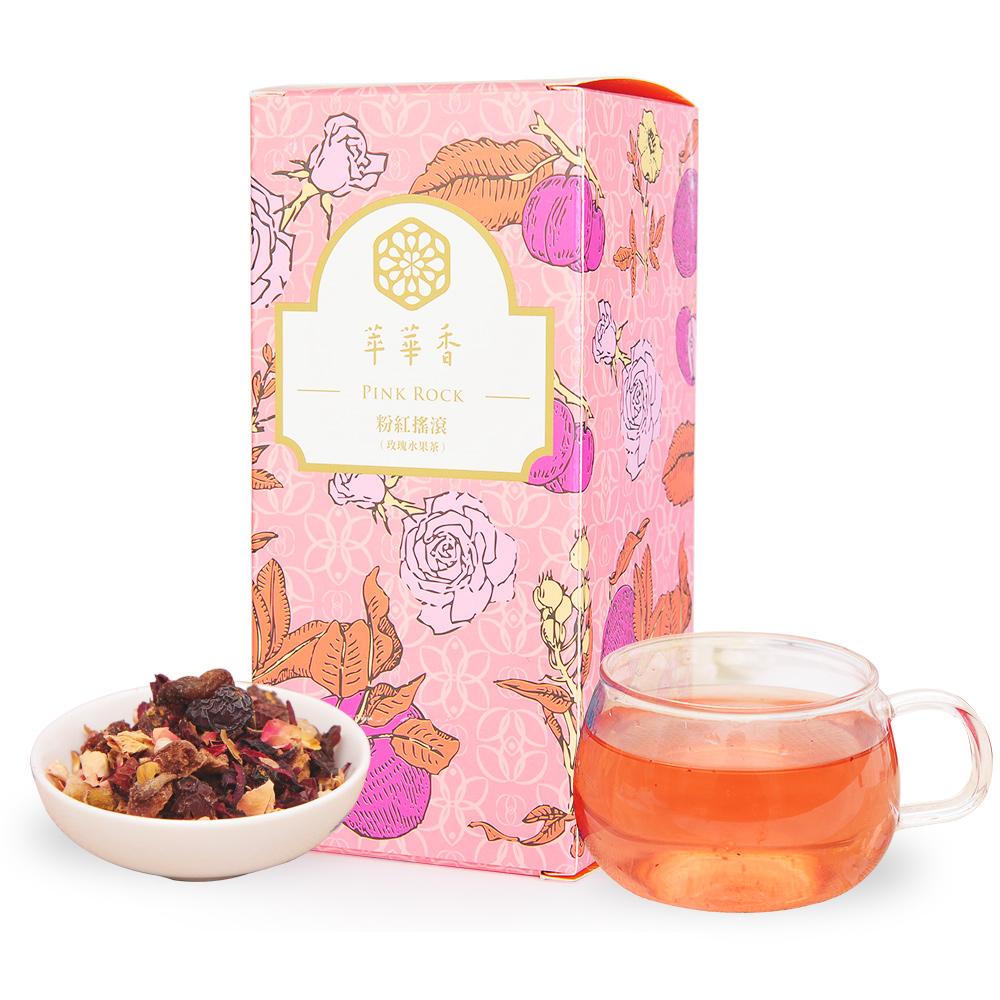【萃華香】粉紅搖滾(Pink Rock)玫瑰水果茶盒装70g1_0