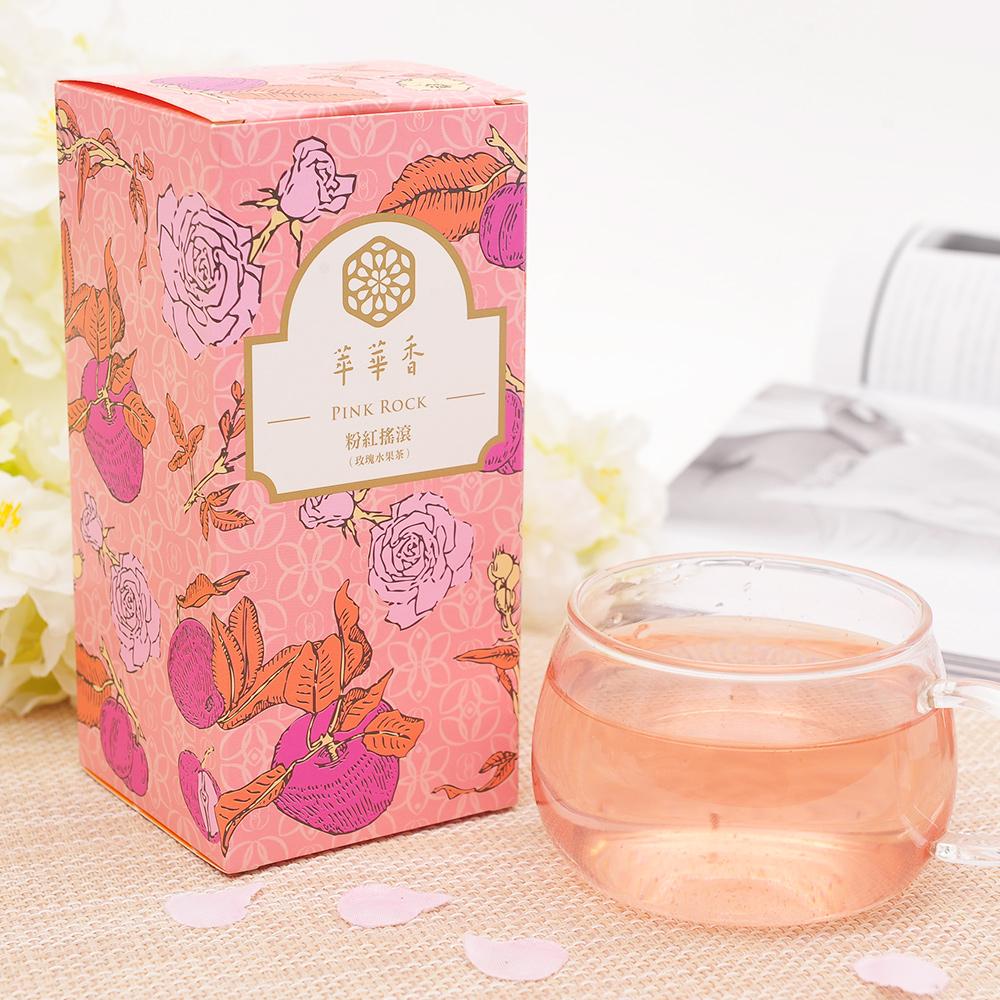 【萃華香】粉紅搖滾(Pink Rock)玫瑰水果茶盒装70g2_1