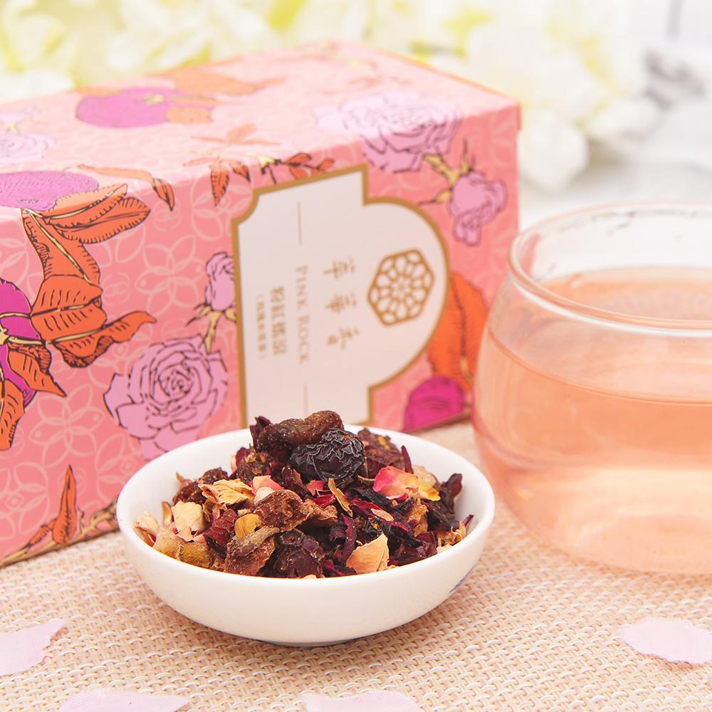 【萃華香】粉紅搖滾(Pink Rock)玫瑰水果茶盒装70g4_3