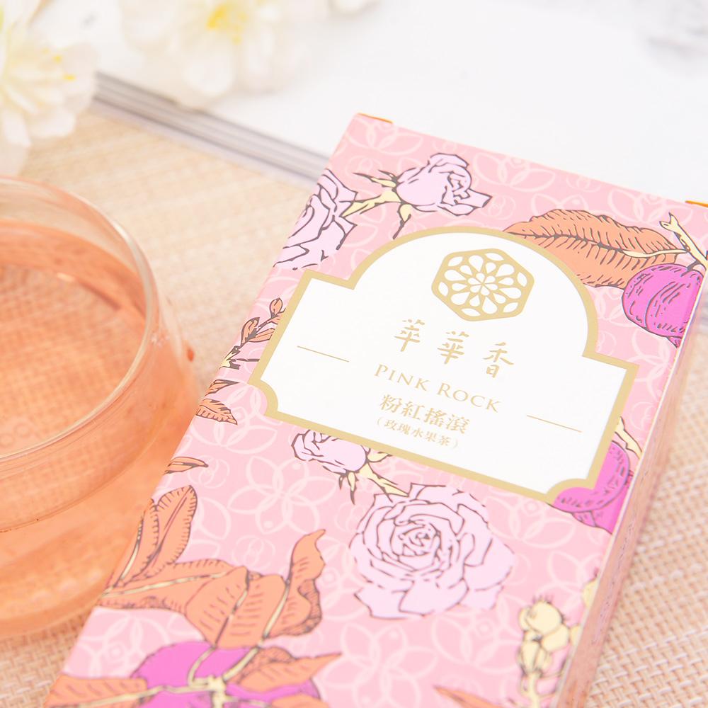 【萃華香】粉紅搖滾(Pink Rock)玫瑰水果茶盒装70g6_5