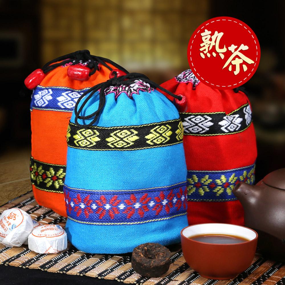【一品堂】原味小沱普洱熟茶布袋装150g*31_0