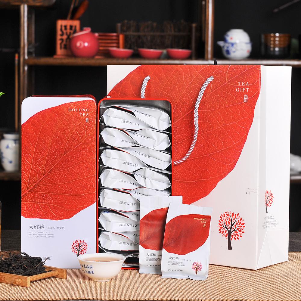 【滋恩】香韵大红袍一片叶子系列铁盒装112g*21_0