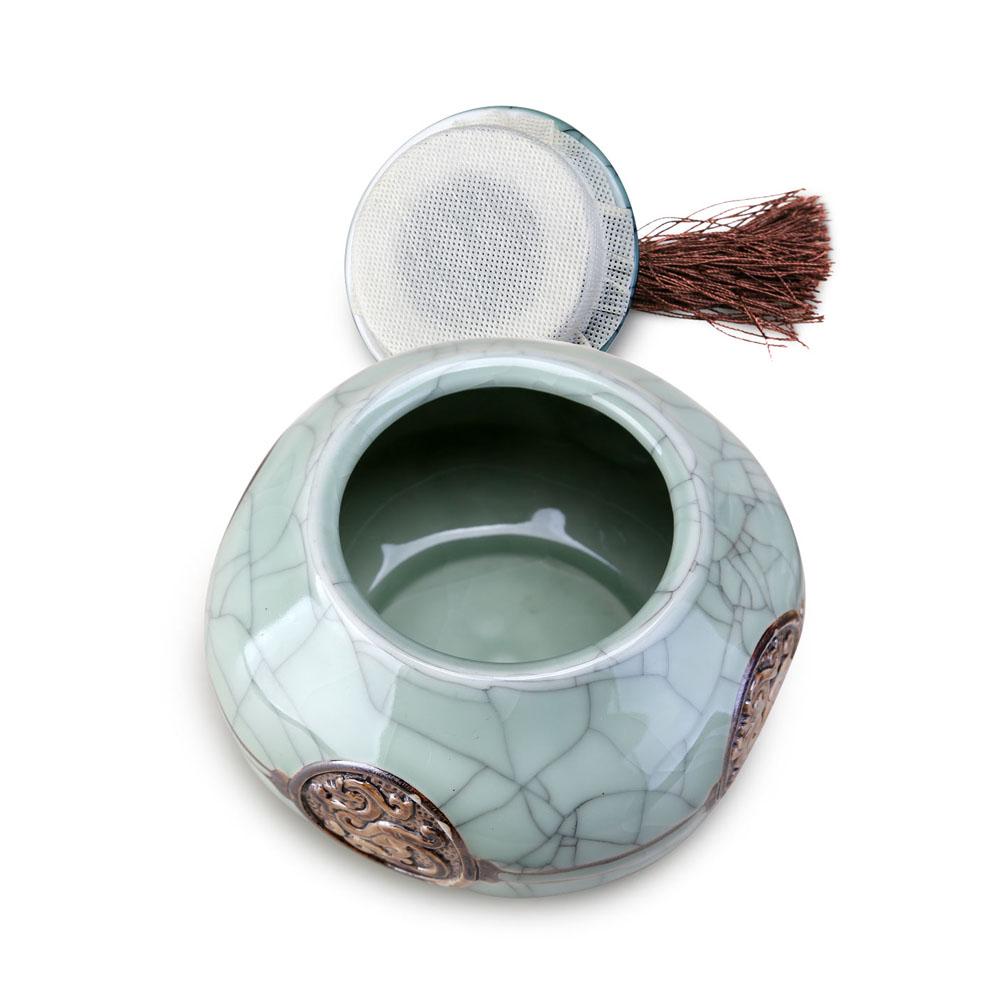 【德化陶瓷】经典哥窑龙罐之品质茶叶罐4_3