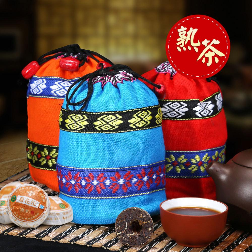 【一品堂】菊花味小沱普洱熟茶布袋装150g*31_0