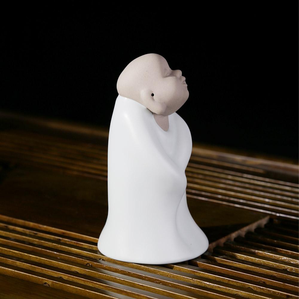 【恒越】正品 德化陶瓷茶具 陶瓷和尚茶宠 汝窑五盖系列茶宠-狂6_4