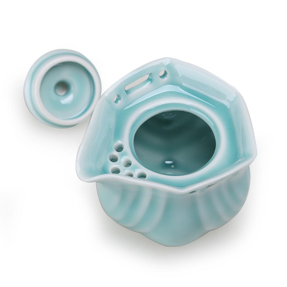【宏远达】陶瓷茶具 功夫陶瓷茶具 珍品德化六角纹茶具8件套精美礼盒2_1