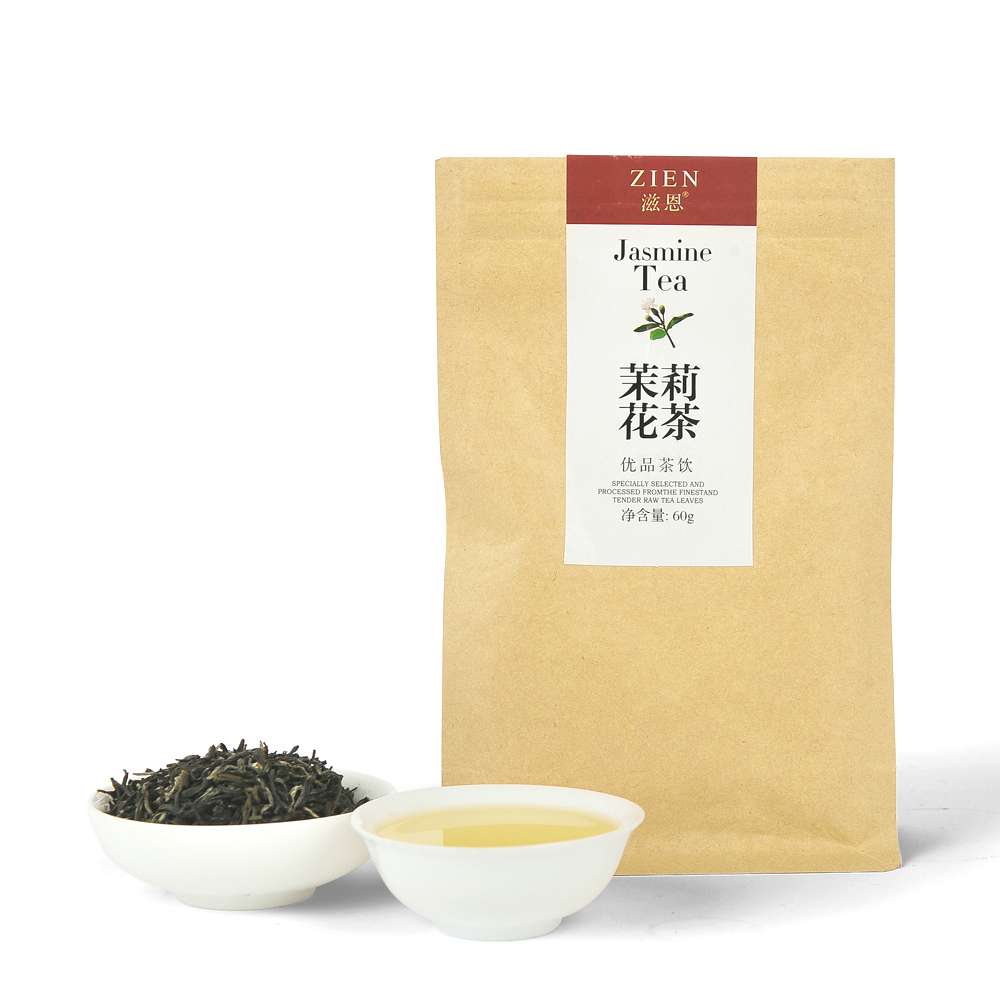 【滋恩】茉莉花茶银毫牛皮纸袋60g1_0