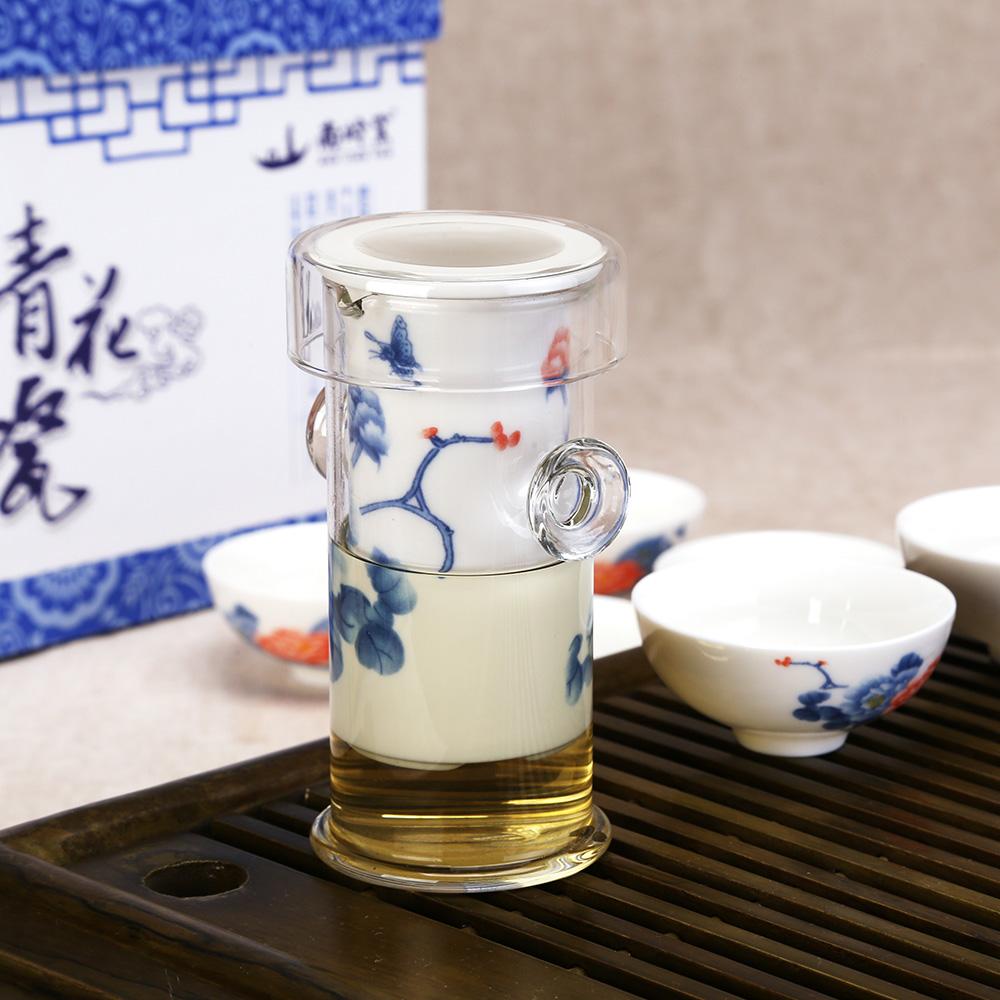 【南岭窑】德化陶瓷茶具 功夫茶具 7头国色天香红茶器礼盒2_1