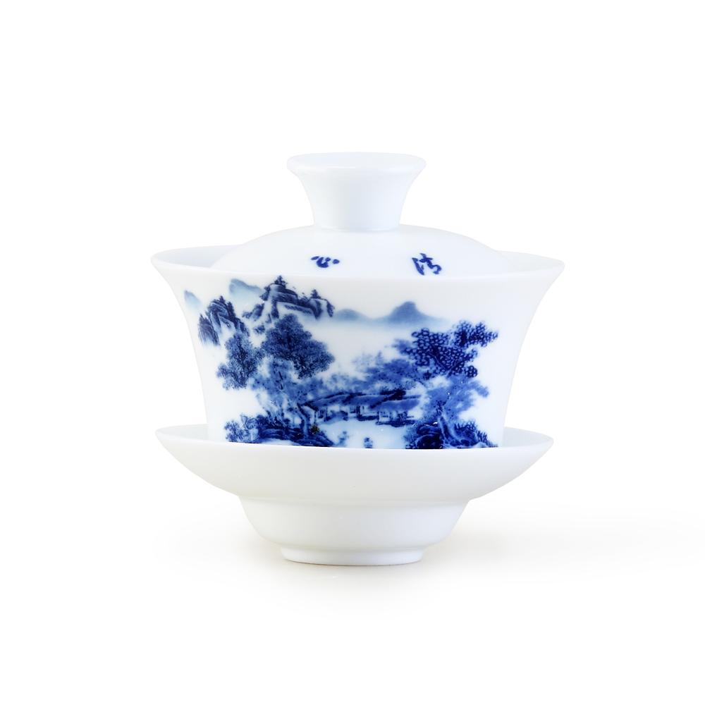 【宏远达】德化蓝彩青花瓷 11件套茶具组2_1