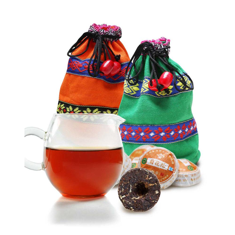 【一品堂】菊花味小沱普洱熟茶布袋裝150g1_2